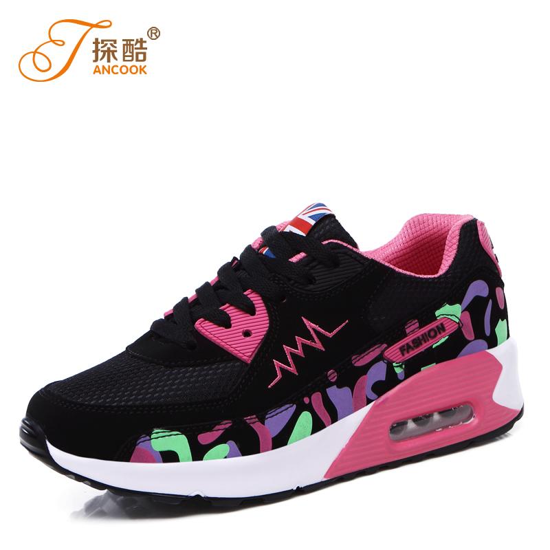 鞋女 潮學生跑步鞋秋 厚底女鞋氣墊內增高 平底棉鞋