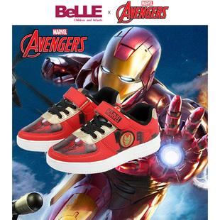 百丽联名迪士尼儿童板鞋2019年新款秋款男童运动休闲漫威英雄潮鞋