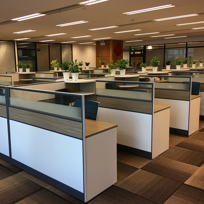 Xiamen office furniture staff desk screen work position staff card computer table 2 persons 4 persons combination