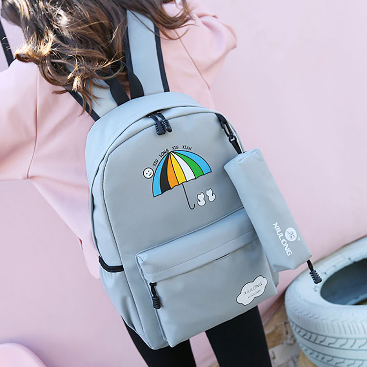 Schoolbag junior high school primary school students male and female Korean version small fresh and lovely campus backpack anti splash new style