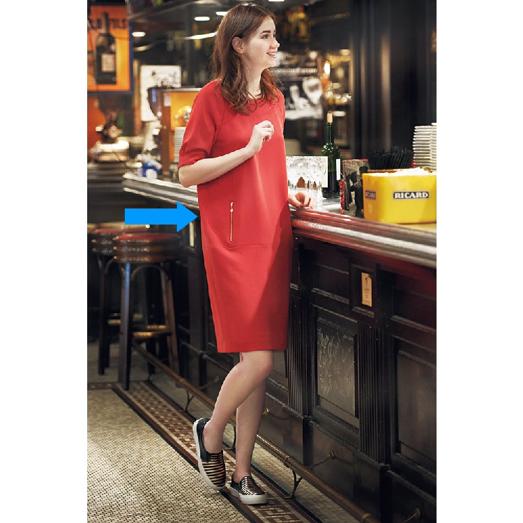 Womens summer spring and autumn new bright cocoon loose Casual Short Sleeve Dress