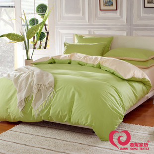 Love ni textile cotton bedding cotton denim wedding quilt sheets Larry plain solid color bedding
