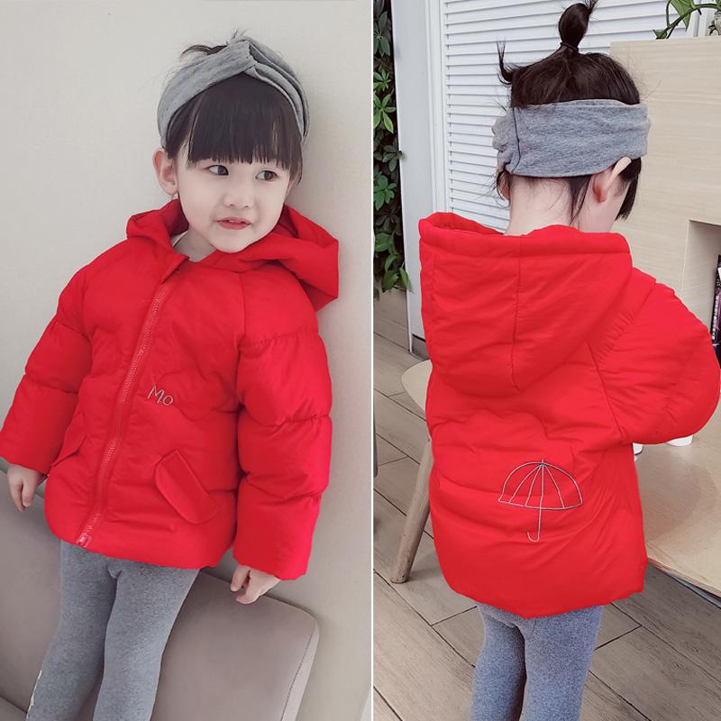 2018新款冬装女童棉衣宝宝加厚棉袄儿童羽绒棉服韩版中小童装外套
