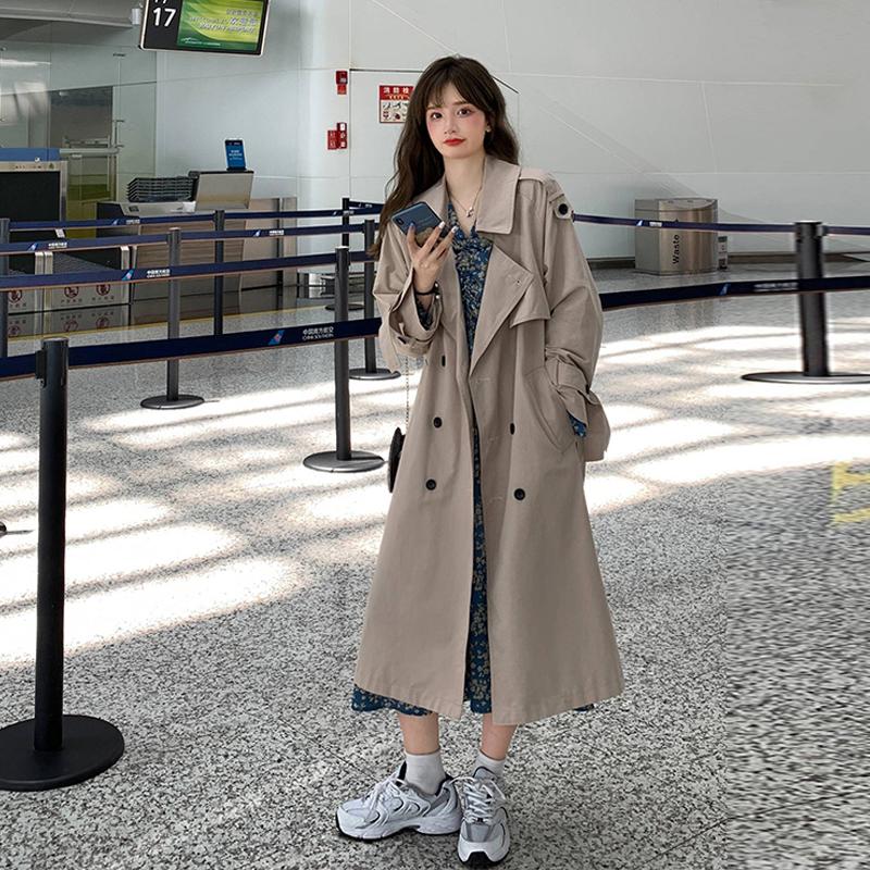 秋季气质风衣女中长款小个子2020新款韩版宽松休闲百搭显瘦外套潮