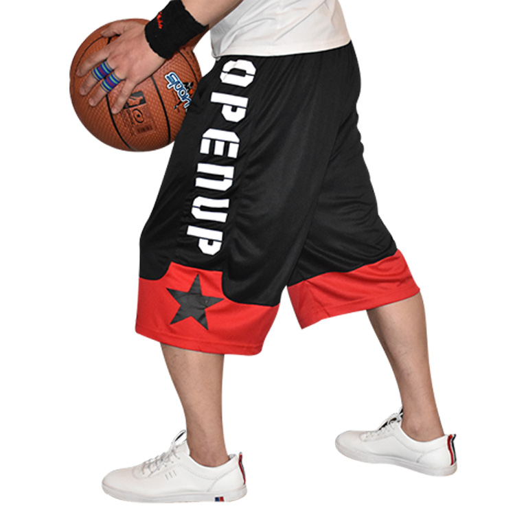 Basketball Shorts \ streetball pants \ loose and breathable over the knee hip hop large in summer \ mens sports shorts