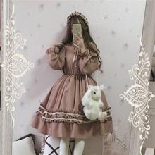 逗酱原创春软妹复古优雅气质连衣裙