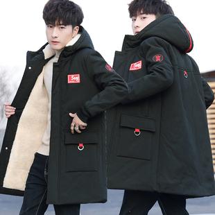 冬季 13中长款 棉衣14男孩15青少年棉服16初中学生17岁加绒加厚外套