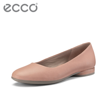 ECCO Single Shoe Female Spring Shoes 2019 Shallow-mouthed Boat Shoes Female Flat-soled Rover Shoes Female Soft-soled Annie 208003