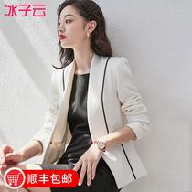 名媛白色西装女套装2019秋冬西服职业外套韩版时尚气质小香风大码