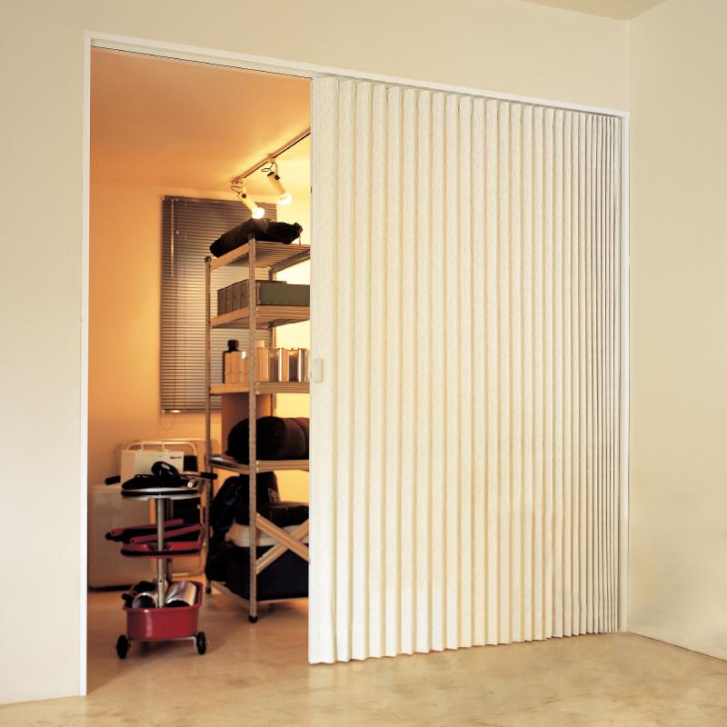 日式PVC折叠门推拉门移门厨房隔断客厅卫生间阳台室内门无下轨