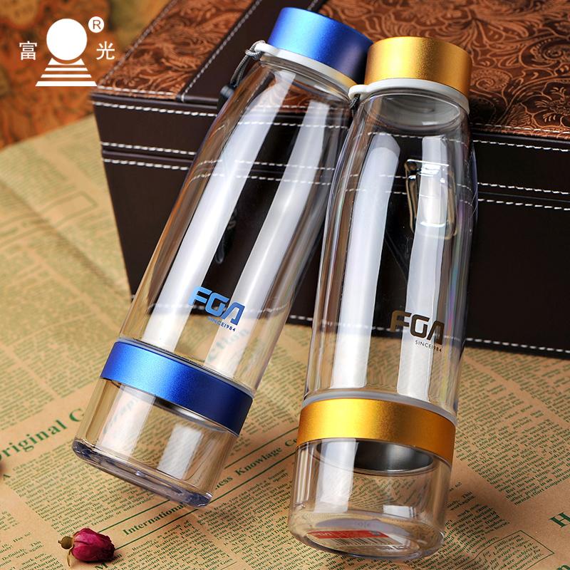 富光樂泡杯帶過濾網水杯塑料便攜防漏泡茶杯隨手杯 水壺450ML