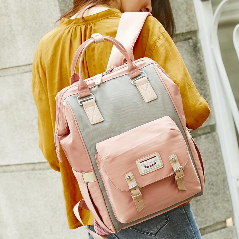 母嬰背包女防盜新款旅行包雙肩手提多功能大容量媽媽包外出書包潮
