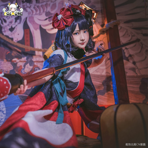 现货漫创Fate/GrandOrder葛饰北斋初始 二破cos服cosplay服装假发