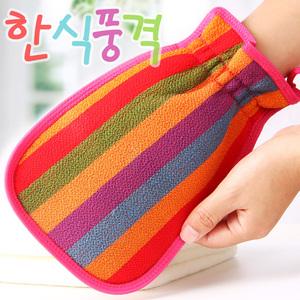 2个韩国搓澡巾强力搓泥洗澡女士不疼双面磨砂搓背去污神器男包邮