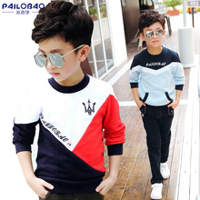 Pure cotton T-shirt with long sleeves for children's wear Spring and Autumn children's jacket and woolen Pullover for boys and boys