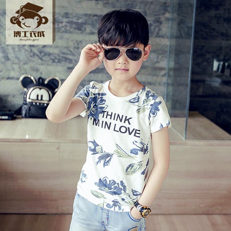 男童兒童純棉男寶寶t恤