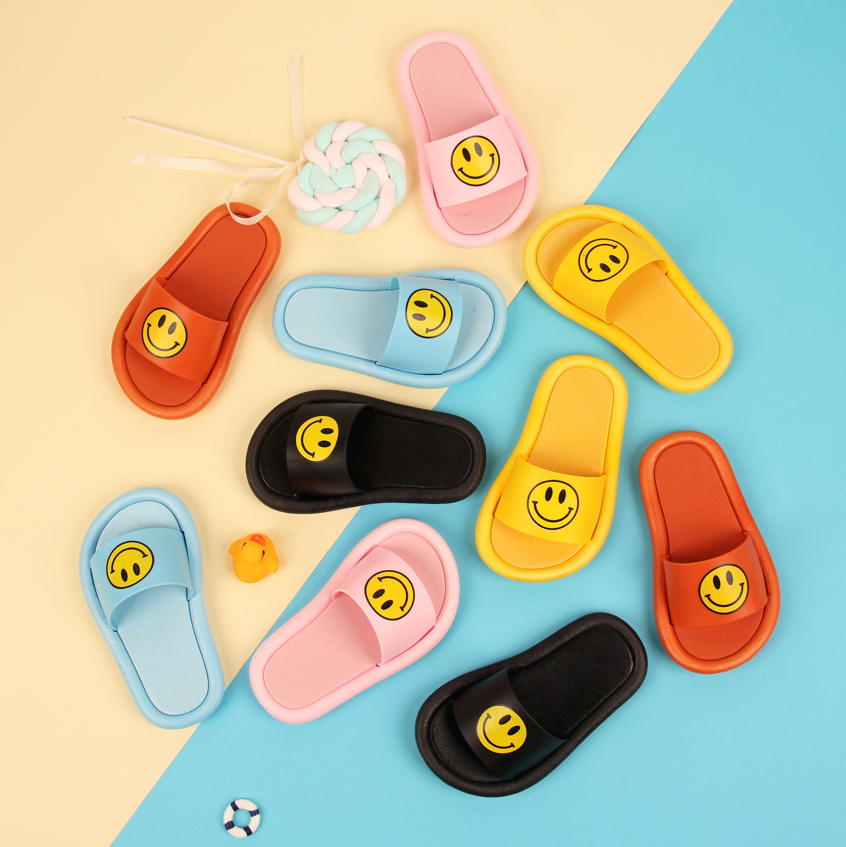 美乐鱼2020夏季新款笑脸童拖鞋男女宝宝凉鞋居家可爱优选好质量