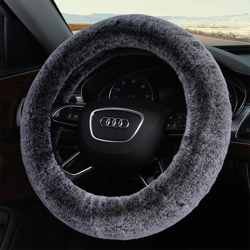 ?汽车冬季方向盘套毛绒把套现代日产别克大众捷达宝来起亚丰田