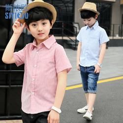 男童短袖衬衫