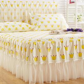 蕾丝花边床裙2.0m1.8M单件床套1.5米席梦思床罩防滑夏季1.2床头罩图片