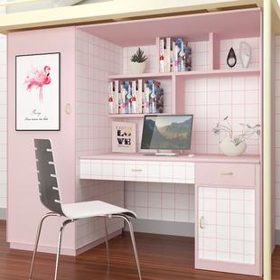 寝室格子ins网红装饰黑白方格宿舍防水壁纸卧室纯色素色墙纸桌贴