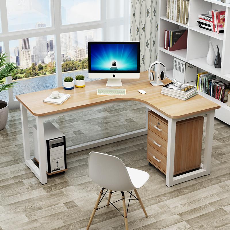 包邮简约现代钢木转角桌墙角桌家用台式电脑桌拐角办公桌L型书桌12-02新券