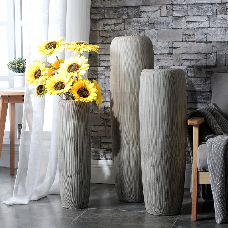 轻奢陶瓷大花瓶摆件客厅干花插花酒店别墅落地创意摆设家居装饰品