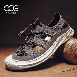 CCE包头凉鞋男鞋夏季潮流透气牛皮户外耐磨运动休闲沙滩鞋Q-MY931