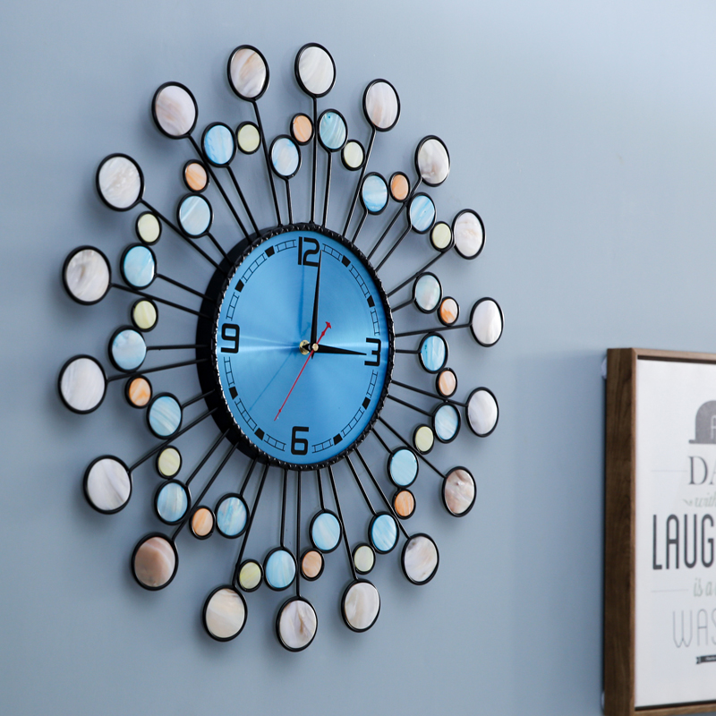 北欧现代简约钟表挂钟时钟客厅创意时尚个性家用表挂墙艺术挂表钟