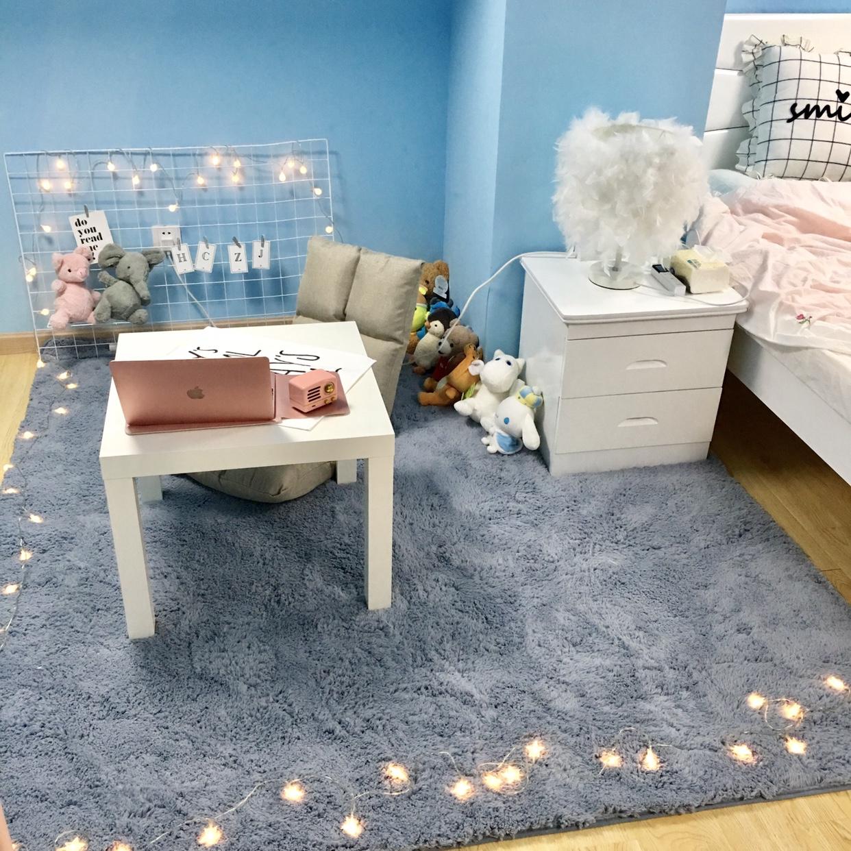 热销29件有赠品加厚加绒地垫家用卧室女房间装饰