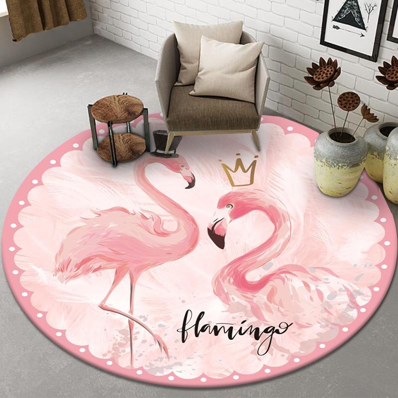 北欧ins网红可爱卡通圆形地毯卧室客厅电脑椅转椅吊篮圆凳瑜伽垫淘宝优惠券