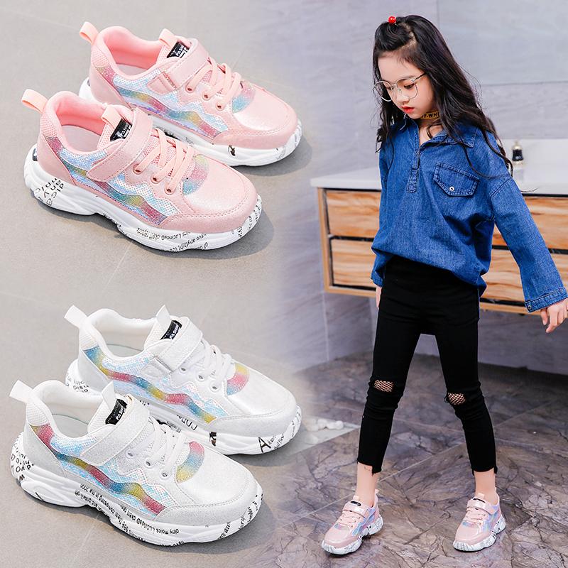 女童运动鞋2019夏季新款男童鞋小女孩儿童网鞋透气学生中大童网面
