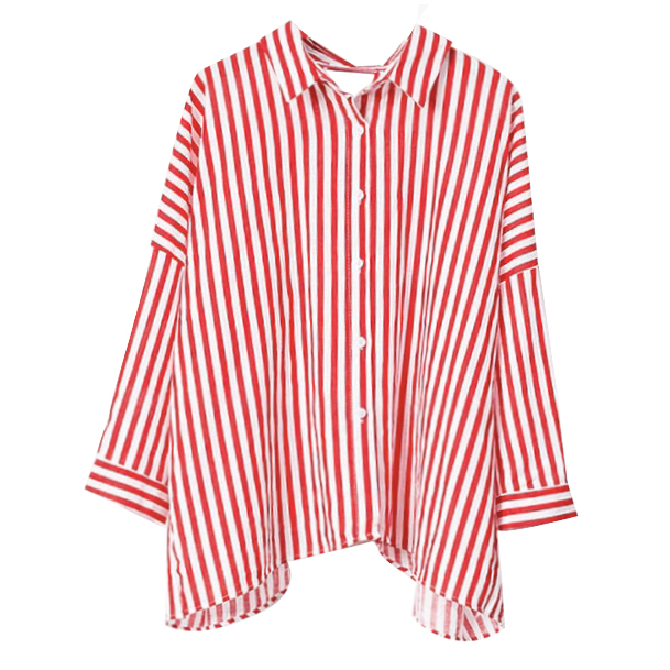 Spring New Vertical Striped Sh...