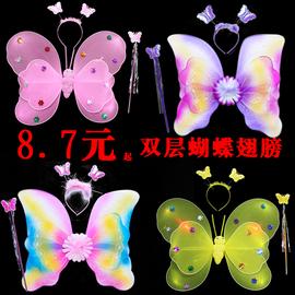 兒童奇妙仙子三件套女孩背蝴蝶翅膀背飾道具花仙子仙女棒天使玩具圖片