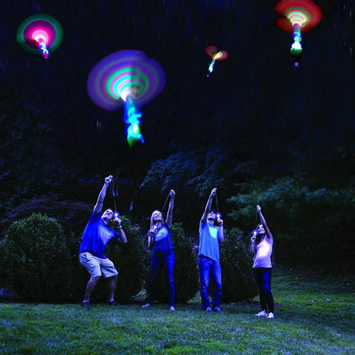 Rocket Copters 神奇的飞天仙子 弹射发光火箭 亲子户外游园玩具