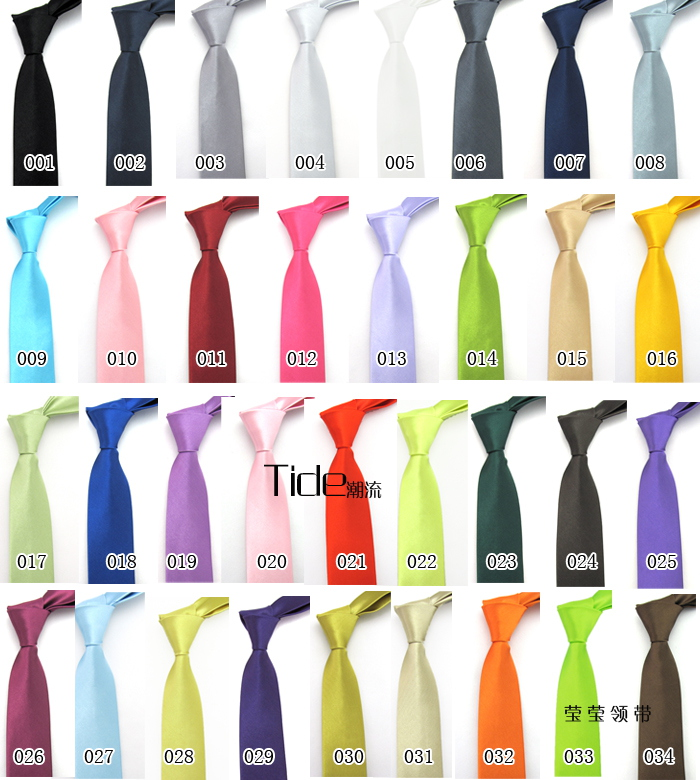 5cm solid Japanese and Korean narrow tie casual student tie British style multicolor