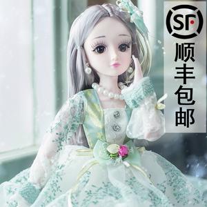 小伶女孩套装过家家3-6芭比洋娃娃
