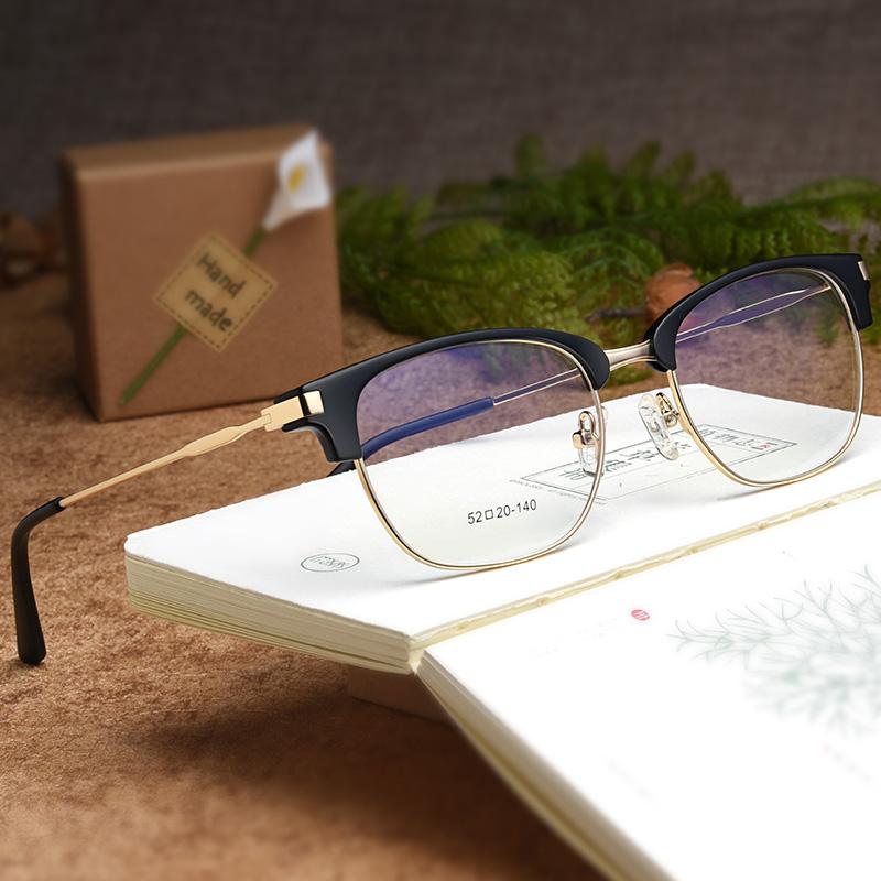 复古半框眼镜架同款近视眼镜男超轻眼镜女近视时尚文艺眼镜架