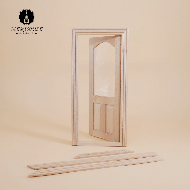 12 points BJD ob11 Dollhouse villa house DIY accessories indoor glass door 80013