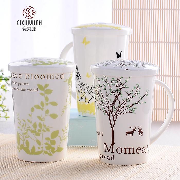 大容量馬克杯 杯子陶瓷杯咖啡杯情侶杯水杯陶瓷杯骨瓷杯帶蓋