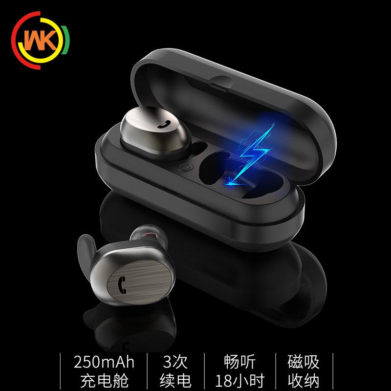 WK無線Bluetoothイヤホン双耳真無線ミニステルス分離式運動TWSステレオイヤホンBD 800