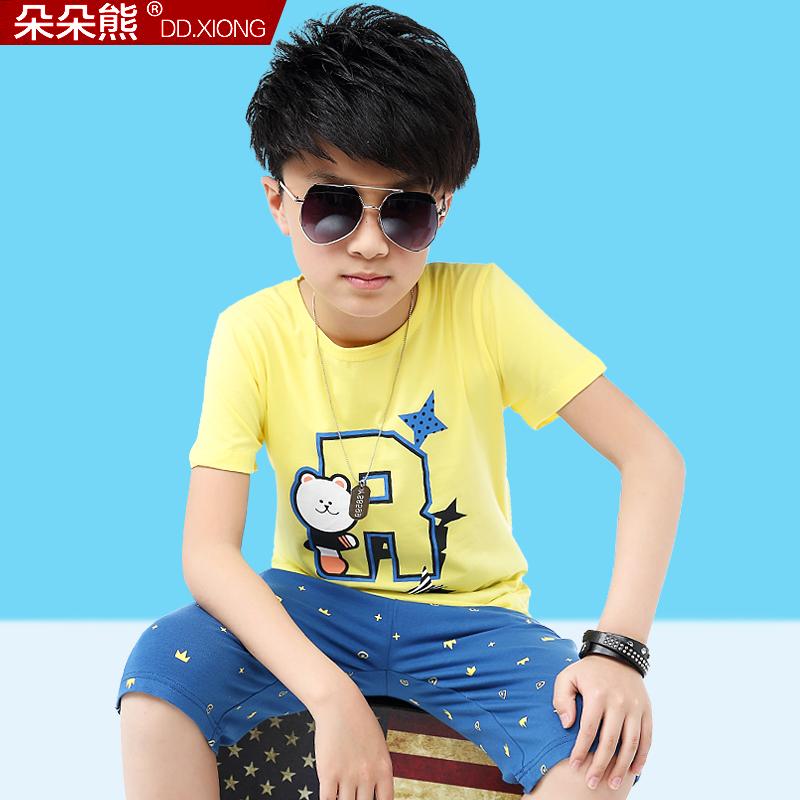 朵朵熊 男童短袖t恤夏裝2016薄款 兒童中大童體恤衫純棉