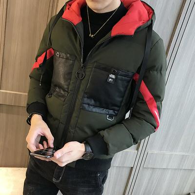 已质检 冬款男大口袋连帽棉衣 A014-M20-P130(控价169)军绿