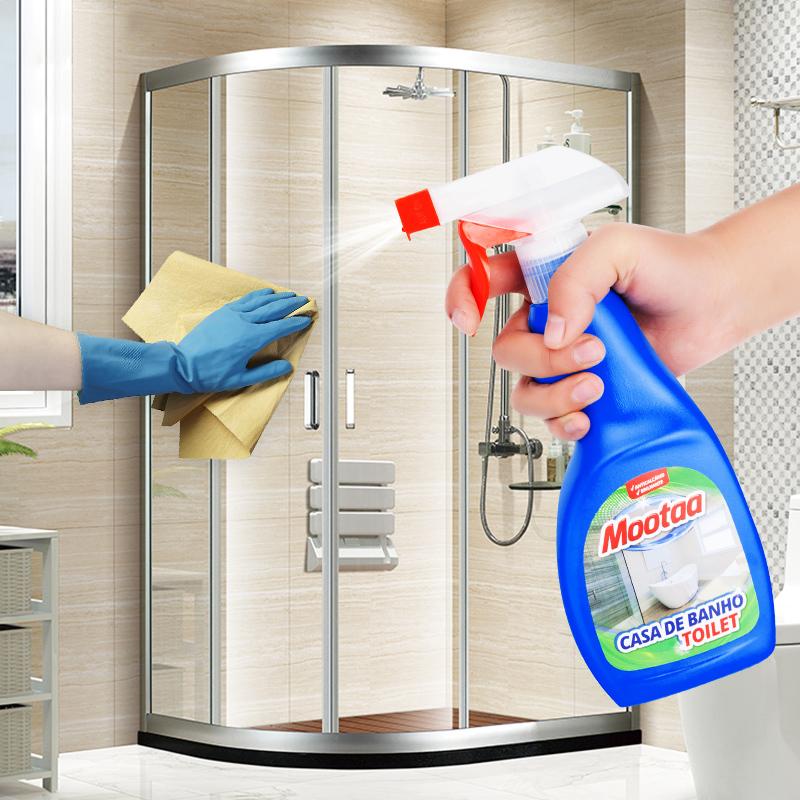 浴室淋浴房玻璃清洁剂家用擦玻璃水强力去污水垢专用除垢神器