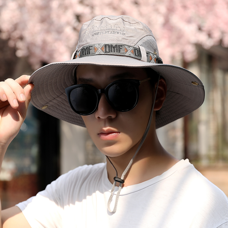 Outdoor mountaineering tourism sunscreen sun hat breathable fisherman hat mens summer beach sunshade hat youth fishing hat