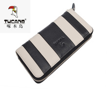 National Day at a loss sale woodpecker wallet authentic long lane and han edition of special leather bag mail TCB0441