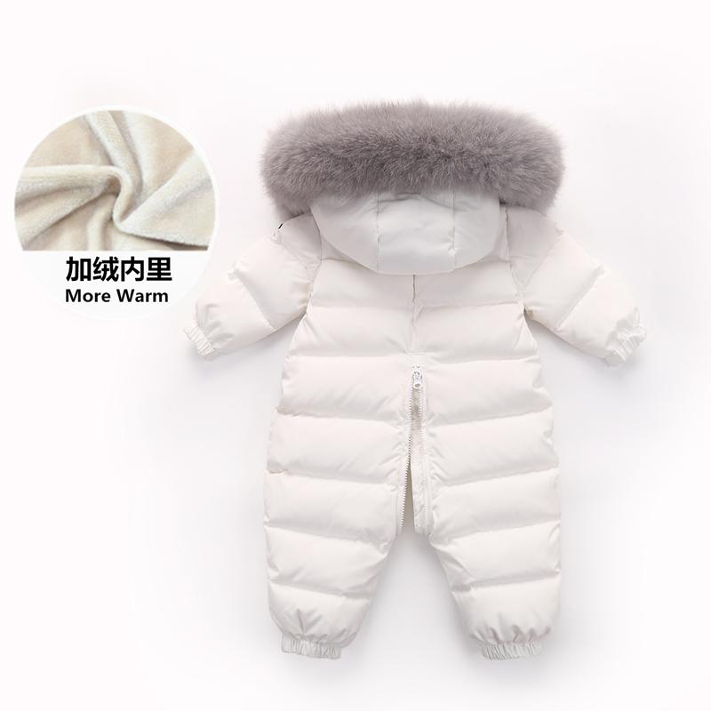 男女宝宝0-1-2岁冬外出服羽绒服
