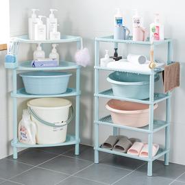浴室置物架卫生间脸盆架厕所洗手间塑料收纳架子多层三角架落地式图片