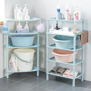 浴室置物架卫生间脸盆架厕所洗手间塑料收纳架子多层三角架落地式