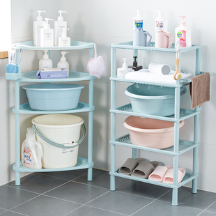 浴室置物架卫生间脸盆架厕所洗手间塑料收纳架子多层三角架落地式品牌